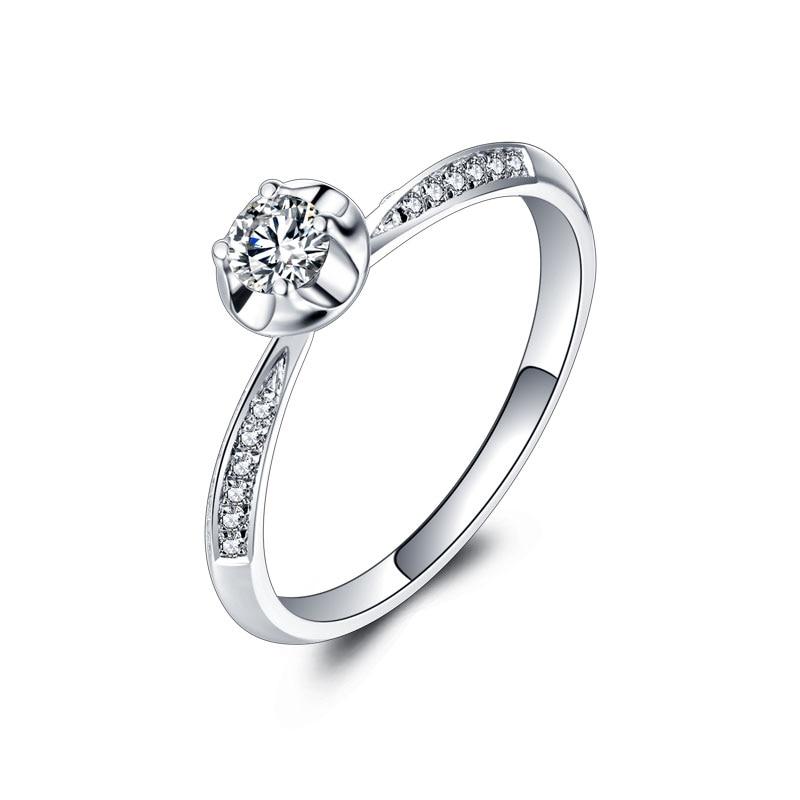 Ein Karat 18 karat Gold Und Weiß Gold Diamant-ring Platin Gold Hochzeit...