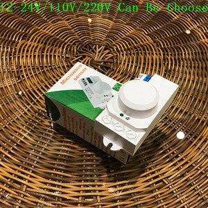 Image 2 - Interruptor de luz con Sensor de microondas, Sensor de movimiento pir, inducción, 12v/110v/220v, 360 grados, novedad
