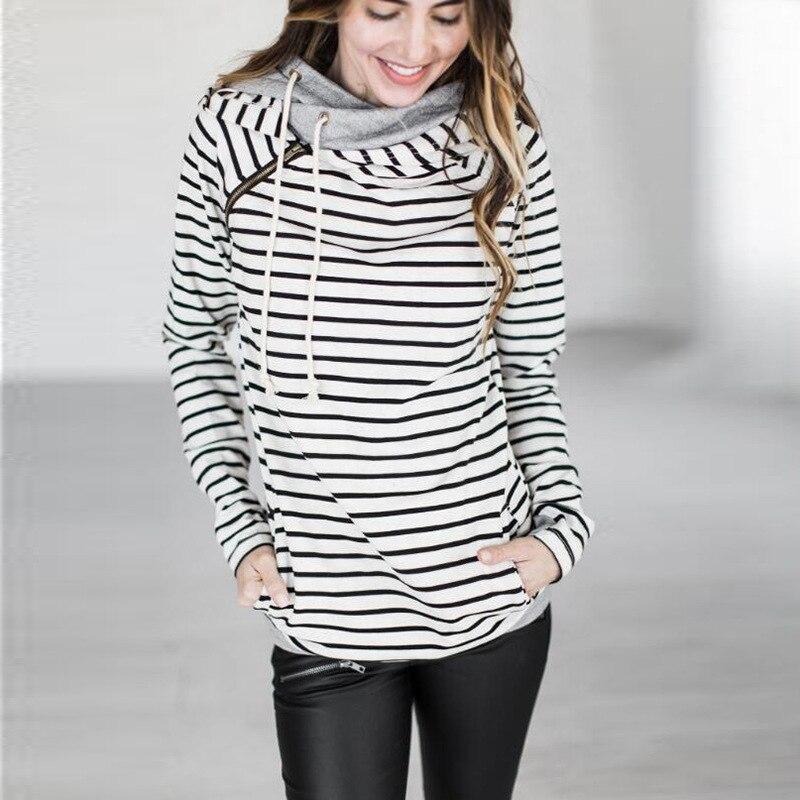 Осенние повседневные толстовки для женщин; Большие размеры XXXL пальто пуловер теплый длинный рукав свитер с капюшоном Женский карманов поло... ...
