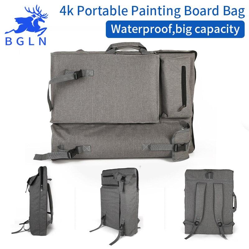 BGLN Fashion 4K Light Gray Waterproof Portable Sketch Painting Board Large Capacity Travel Shoulder Sketchpad Drawing Bag