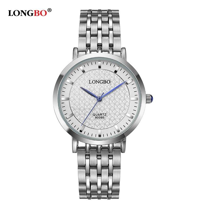 54b3fdc9f4db Moda marca longbo mujeres reloj nueva llegada ocio serie de deportes  completo acero relojes Top señora calidad relojes 80095