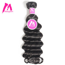 USA 8 Corp beauty Maxglam Peruvian Virgin Hair More Body Wave Unprocessed Natural Color Human Hair Bundles Extension Free Shipping