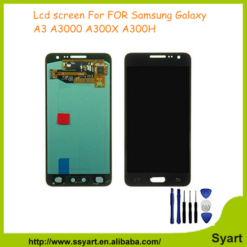 A3 display Replacement 10PCS 100%Working Complete LCD Touch Digitizer screen Panel For Samsung Galaxy A3 SM-A300F A300FU DHL