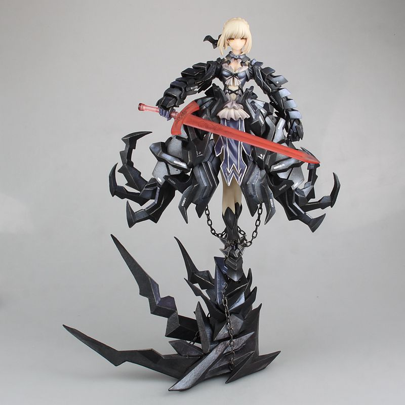EMS Shipping 13 Fate Stay Night Anime Saber Alter Huke Black Ver. Boxed 33cm PVC Action Figure Collection Model Doll Toys Gift hot figure toys japan anime fate stay night pvc red saber nero model doll action figure collection gift free shipping p20