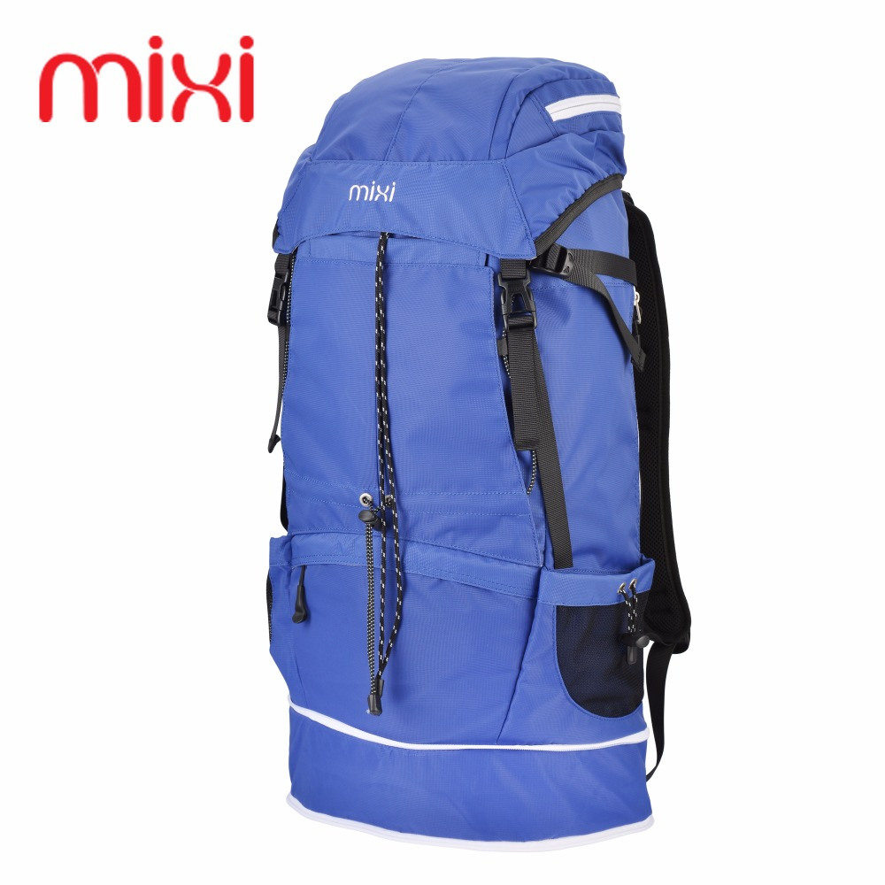 8375fd67b391 Mixi Large 43L Outdoor Backpack Unisex Travel Multi-purpose Climbing  Backpacks Hiking Big Capacity Rucksacks Camping Sports Bags