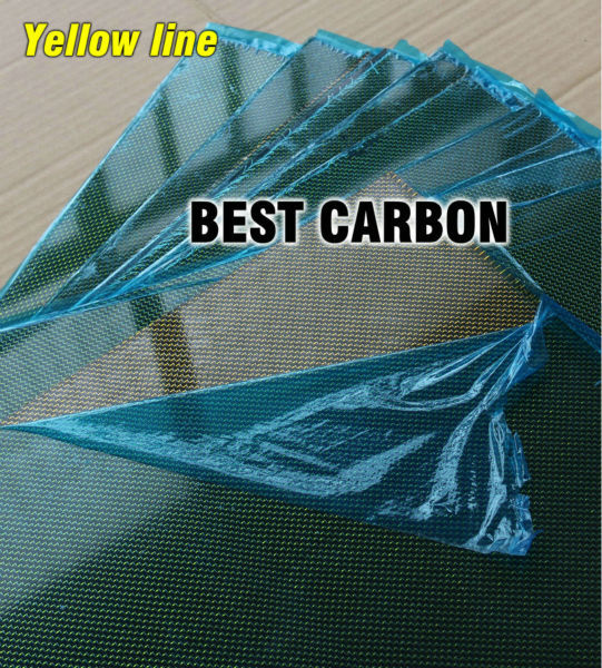 Free shipping 400mm x 500mm Yellow line glossy Carbon Fiber Plate, cf plate , carbon sheet ,carbon panel 2 5mm x 500mm x 500mm 100% carbon fiber plate carbon fiber sheet carbon fiber panel matte surface