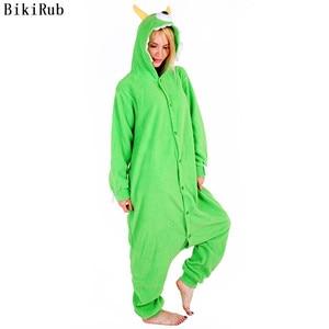 Image 1 - Vrouwen Hooded Pyjama Vrouwelijke Fleece Nachtkleding Meisjes Leuke Monoculaire Monster Cartoon Pyjama Winter Kigurumi Animal Pyjama Set