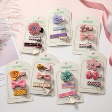 цена на 3pcs/Set Bow Flower Hair Clips for Girls Hair Barrettes Hairbows Hairpins Baby Girl Hair Accessories Kids Girls
