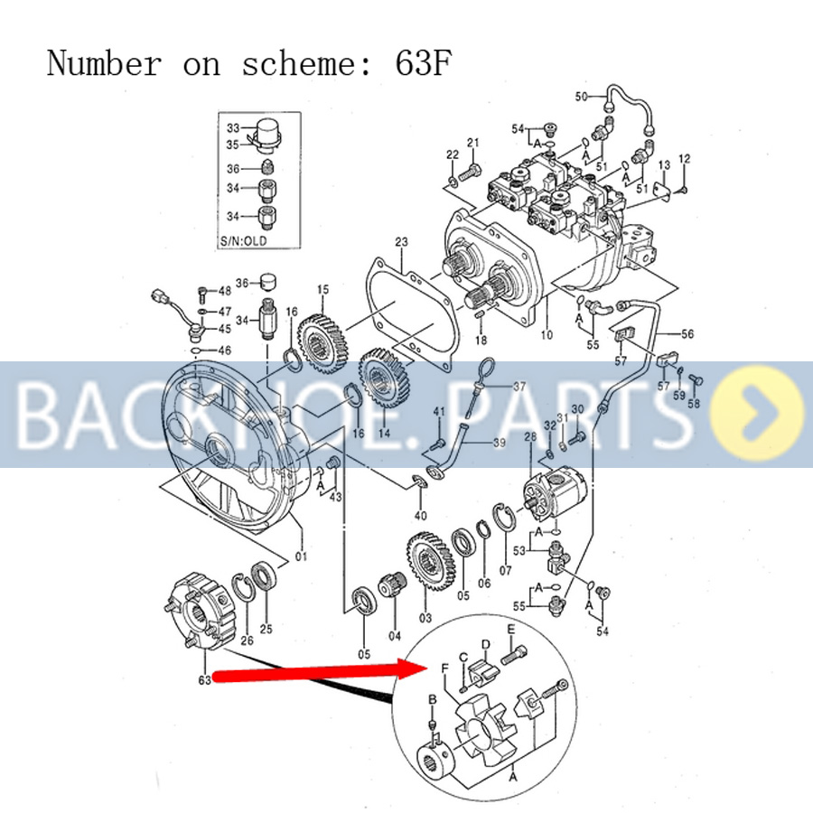 Main Hydraulic Pump Coupling Element 4334891 For John Deere Alternator Wiring Diagram 15 Mini Exc Excavator 120 110 120c 160lc 160c Lc 135c Rts 200lc In Fans Kits From Automobiles