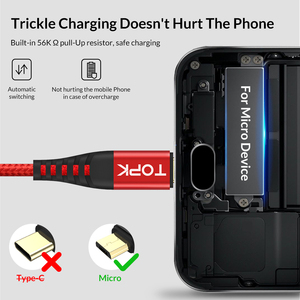 Image 2 - TOPK [3 Pack] 1 M Cao Độ Bền Kéo Nylon Bện 2A Nhanh Micro USB Cable đối với Samsung Xiaomi huawei LG Máy Tính Bảng Android USB Cáp Dữ Liệu