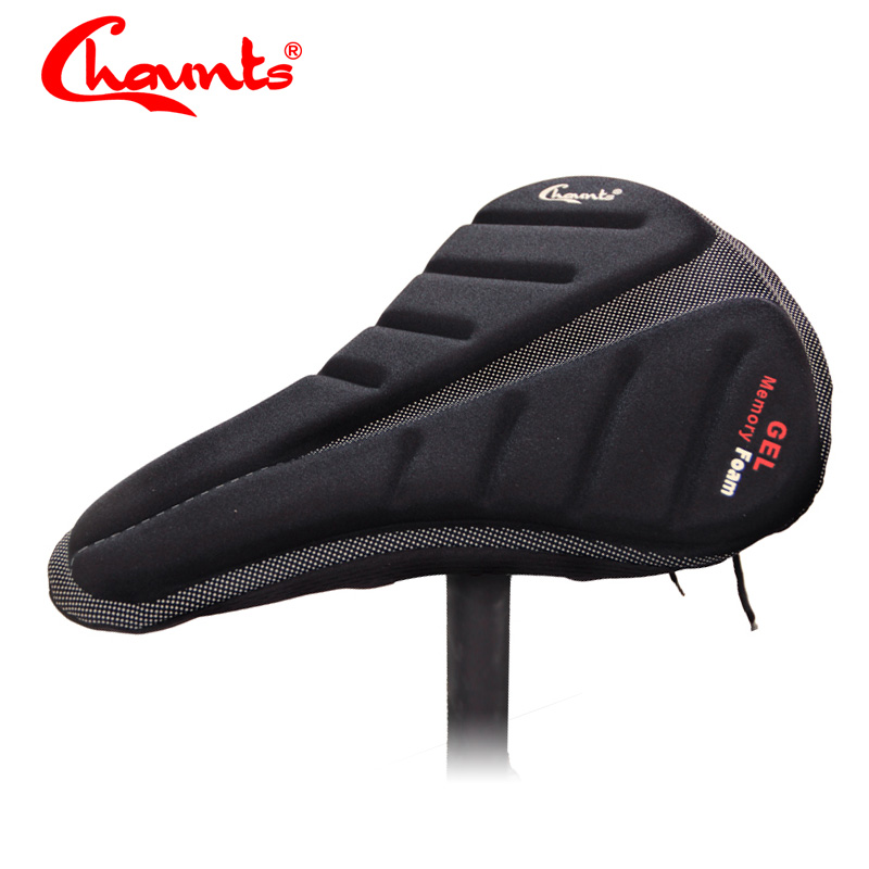 Lightweight Bicycle Silicone Saddle Seat Cover Silica Gel Cushion Pad che TDO