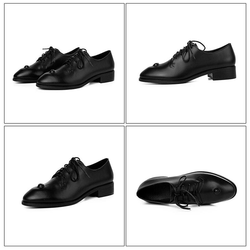 Xiuningyan 여성 캐주얼 옥스포드 신발 여성 플랫 눈 신발 정품 가죽 봄로 퍼 슬립 운전 신발 큰 크기 33 41-에서여성용 플랫부터 신발 의  그룹 2