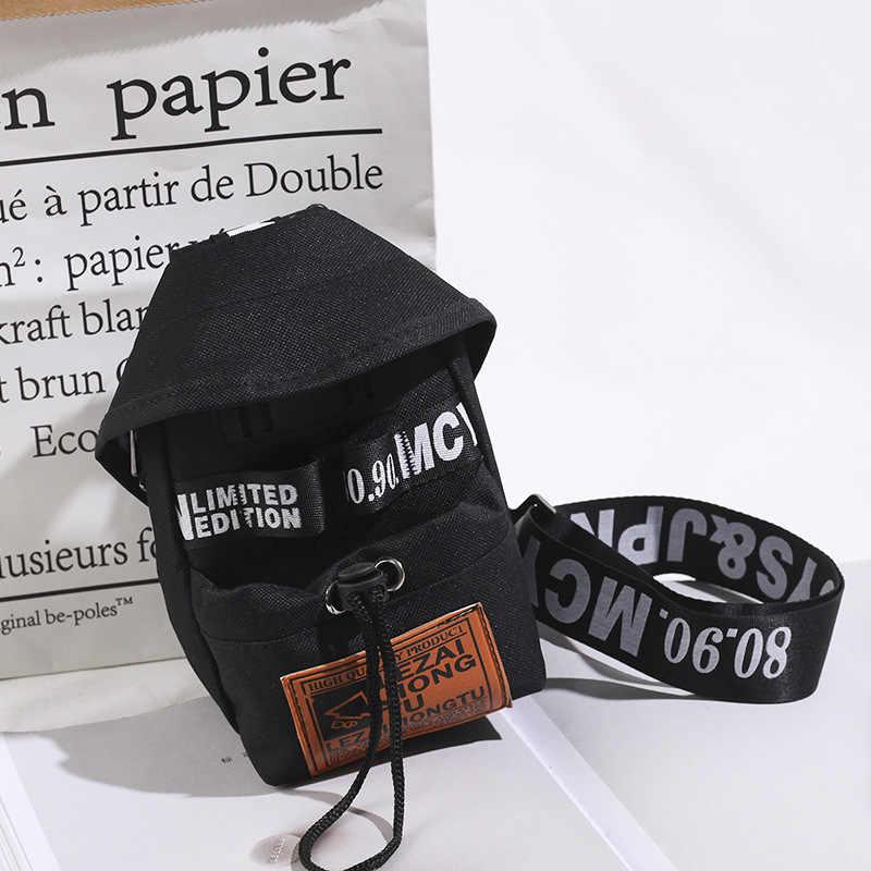 Elegante Unisex Peito Sacos de Bicicleta Mini Crossbody Mulheres Bolsas Bolsas de Ombro Mensageiro Homem Carta Impressão Mini Saco Do Telefone