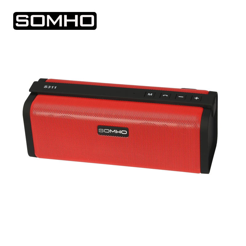 SOMHO S311 Original Mini Bluetooth Speaker Super Bass With Big Sound Indoor Stereo Portable Radio Speakers Support TF Card Play полотенца valentini полотенце valentini цвет темно синий набор