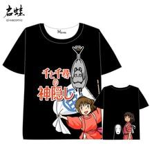 Anime Spirited Away No face man T-shirt Men Women Short Sleeve Summer dress cartoon t shirt