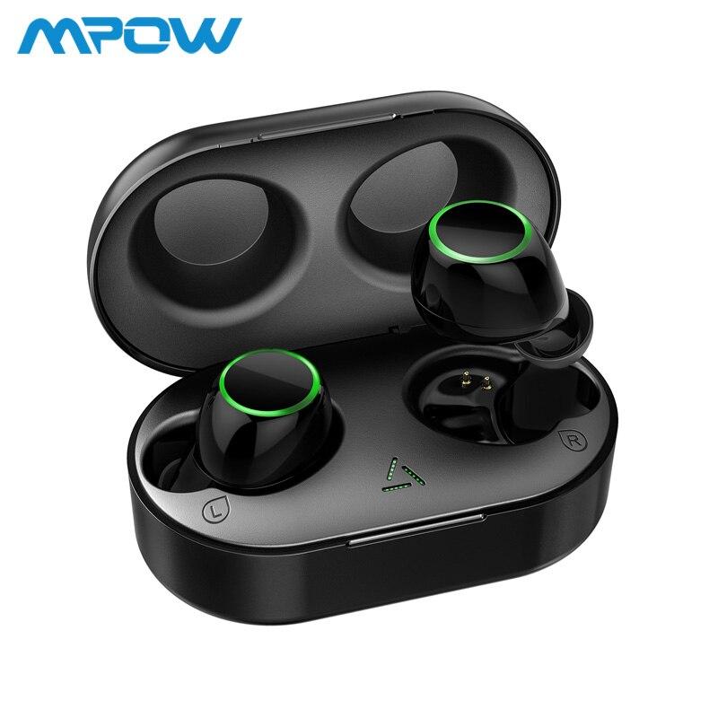 Mpow T6 TWS bluetooth sans fil 5.0 Écouteurs ipx7 Étanche 21 h Temps de Jeu écouteurs sans fil Avec Micro Pour iPhone Xs Xr Huawei