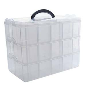 Stickers-Tool Storage-Box Office-Organizer Plastic Transparent Separate-Tape Manager