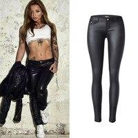 Leather Pants Plus Size skinny In Women Skinny Pants Elasticity Black Low Waist Pencil Jeans