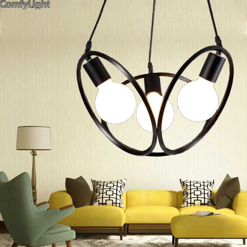 все цены на Modern black iron Pendant Lights Globe Lampshade Pendant Lamp Kitchen Hanging Lamp Light Fixture Lustre de Led Ceiling luminaire
