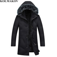 KOLMAKOV 2018 New Winter Feather Jackets Men Fashion Cold Protective Overcoat Mens 90% Duck Down Jackets Thickening Snowsuit 4xl
