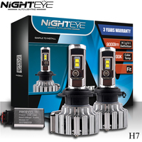 Nighteye H7 70W 9000LM H4 HB2 9003 H1 With Cree LED Headlight Kit Fog Lamps Light