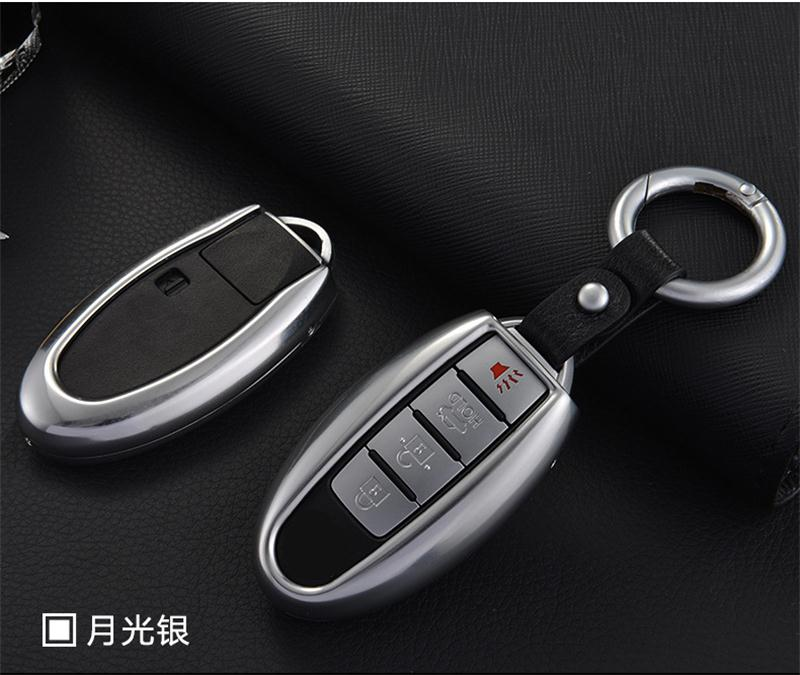 2013 Infiniti Ex Interior: Silvery Metal Remote Key Cover Case Fit For Infiniti JX35