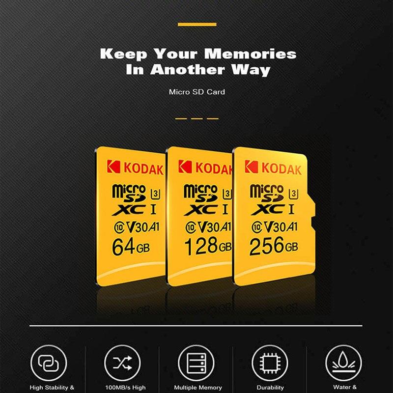 Original Kodak 512GB Micro SD card class 10 U3 4K High Speed   cartao de memoria Flash Memory Card 512gb mecard C10  グループ上の パソコン & オフィス からの Micro SDカード の中 3