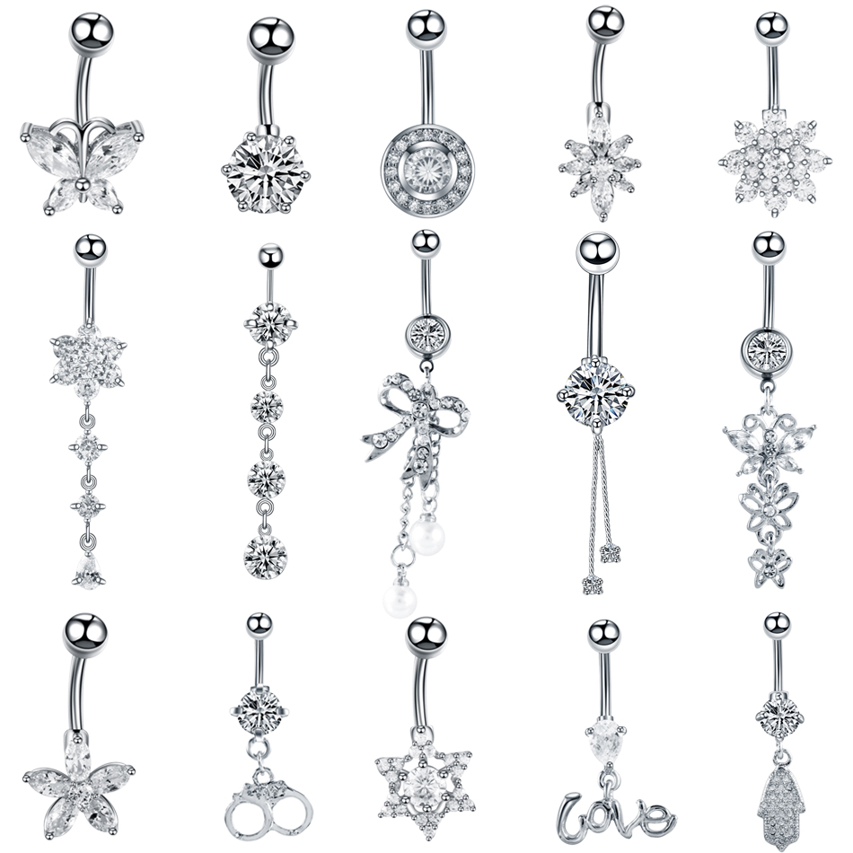 1pc Zebras Print Ball Belly Navel Ring Barbell Button Piercing 14G Color U Pick