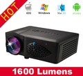 Wi-fi Miracast Домашний Кинотеатр 3D Кино 1600 люмен 1080 P HD пико HDMI SD Видео Цифровой Мультимедийный LCD LED Mini проектор pojector