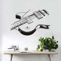 Comercio al por mayor de la Guitarra Eléctrica Guitarra Creativa Etiqueta de La Pared DEL PVC 3D Pegatinas de Pared de la Sala de estar Del Dormitorio Decora Home Decor