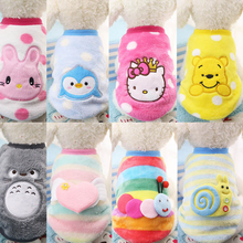 2018 New Small Dogs Chihuahua Yorkie Clothing Autumn/Winter Cartoon Dog Clothes for Pet Pu