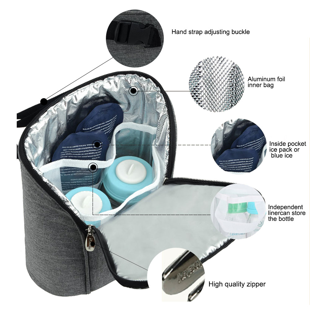 Insulated Baby Bottle Bag- Nursing Bag | Travel with Jaiden
