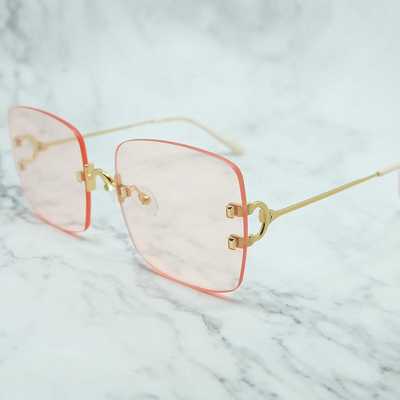 Rinless Sonnenbrille Männer Metall Big C Carter Sonnenbrille Herren Zubehör Luxus Marke Designer Shades Gafas De Sol Mujer Sonnenbrille - 2