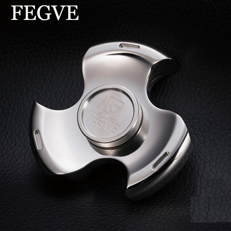 FEGVE Finger Spinner Fidget Titanium EDC Hand Spinner For Autism and ADHD Anxiety Stress Relief Focus Toys Logo Engraved Gift new arrived abs three corner children toy edc hand spinner for autism and adhd anxiety stress relief child adult gift