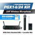 Free Shipping! PGX PGX14 PGX24 BETA UHF Wireless Microphone Karaoke System With BETA58 Handheld BodyPack Transmitter Microfone