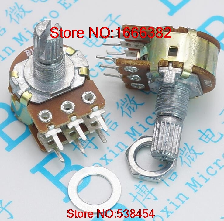 with Screws 15mm Handle Length Official Website Wh148 250k 254 Three Feet 15mm Handle Long Horizontal B250k Single Potentiometer