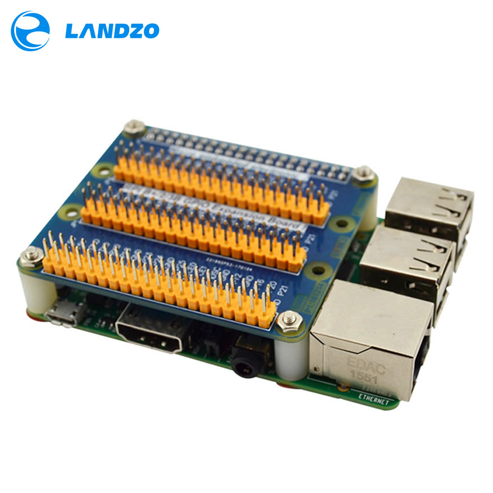 LANDZO Electronic Technology Co.,Ltd LANDZO Raspberry Pi 3 Expansion Board GPIO Raspberry PI 2 3 B B+ With Screws