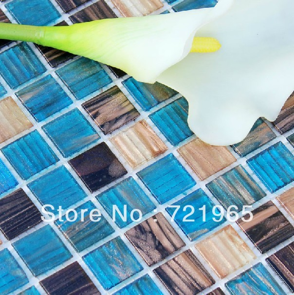 Iridescent glass mosaics free shipping glass mosaic tile for Installing glass tile with mesh back