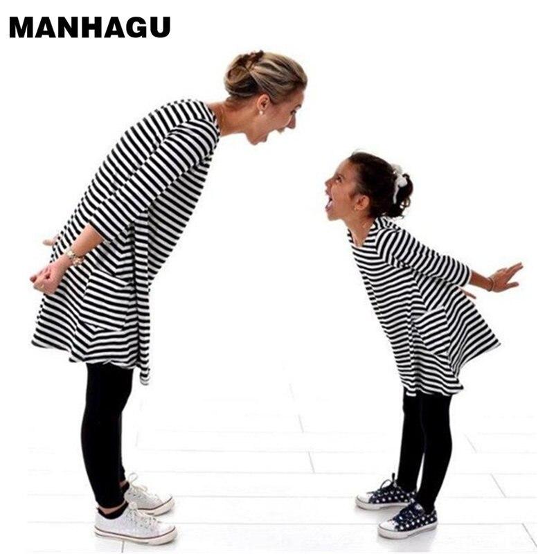 MANHAGU Anyu és én Család megfelelő anya lánya ruhák Ruházat - Gyermekruházat