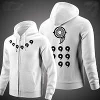 Naruto Hoodie Anime Ootutuki Hagoromo Cosplay Mantel Männer Frauen Zip Jacke Rikudou Sennin Leuchtende Jacke Sweatshirt