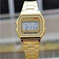 2016 Новая Мода золото серебро Силиконовые Пару Часы цифровые часы площади военнослужащих/женщины одеваются спортивные часы whatch женщины