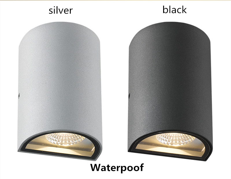6W Waterproof Outdoor Wall Lamp Black White Aluminum Led Wall Sconce Bathroom Light Modern Wall Light Garden Light WWL048 6w square indoor outdoor waterproof led wall light white warm white sconce