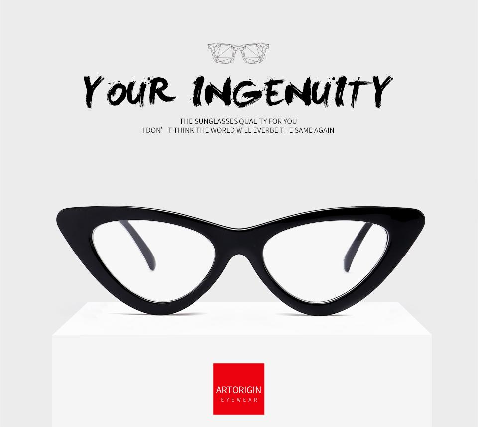 ARTORIGIN Moda Olho de Gato Óculos de Armação Para As Mulheres ... bd0441c0b1