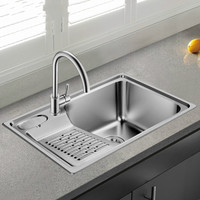 Free Shipping Standard Individuality Kitchen Single Trough Sink Food Grade 304 Stainless Steel Hot Sell 660x450