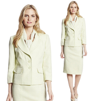 2016 Herfst Past Vrouwen Kantoor Rok Pak Formele Carrière Werk dragen Tweedelige Set Elegante Dames Designer Pakken Plus Size