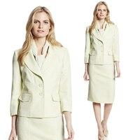 2014 Autumn Suits Women Office Skirt Suit Formal Career Work Wear Two Piece Set Elegant Ladies