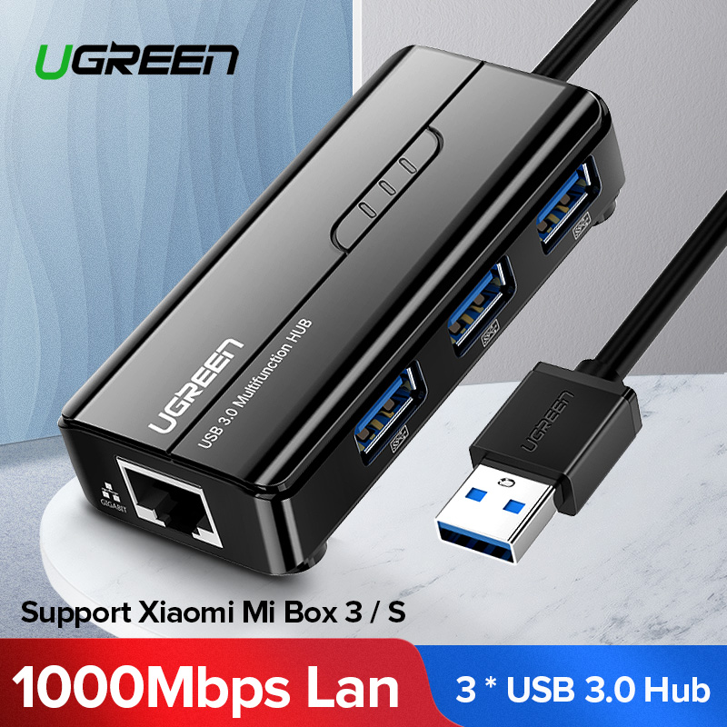 shop USB 3.0 to RJ45 Multi Port Hub with crypto, pay with bitcoin