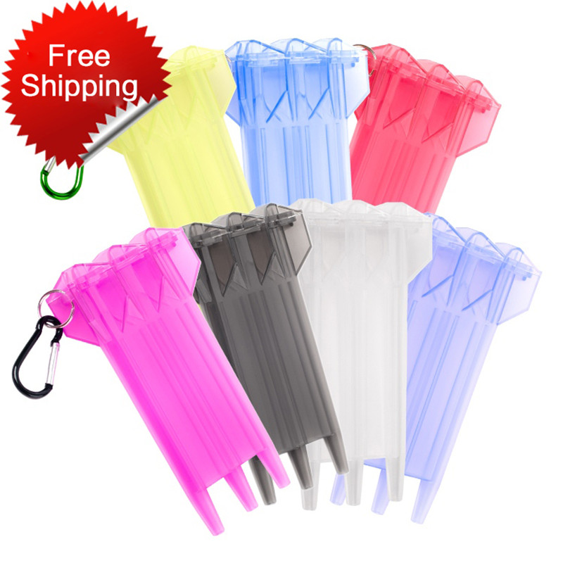 7 Colors 1 Set Dart Box Plastic Dart Case For Professional Dart Player Black Cover White Darts Accessories