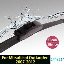 """Limpiaparabrisas cuchillas para mitsubishi outlander (2007-2012) 24 """"+ 21"""" estándar fit j gancho limpiaparabrisas armas sólo hy-002"""