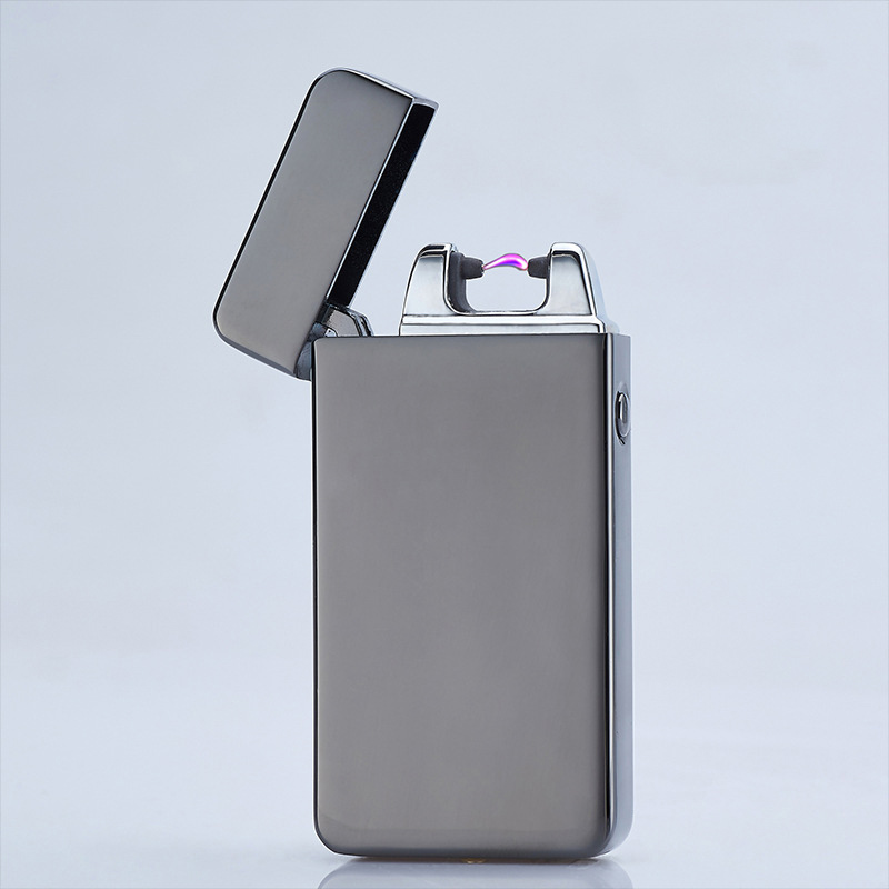 Cigarette lighter Smoking Accessories Electric Arc Windproof Rechargeable Flameless No Gas Metal Pulse USB Lighters with